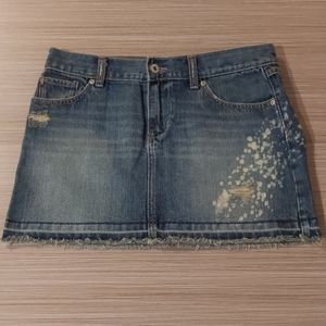 Distressed Denim Mini Skirt from Old Navy